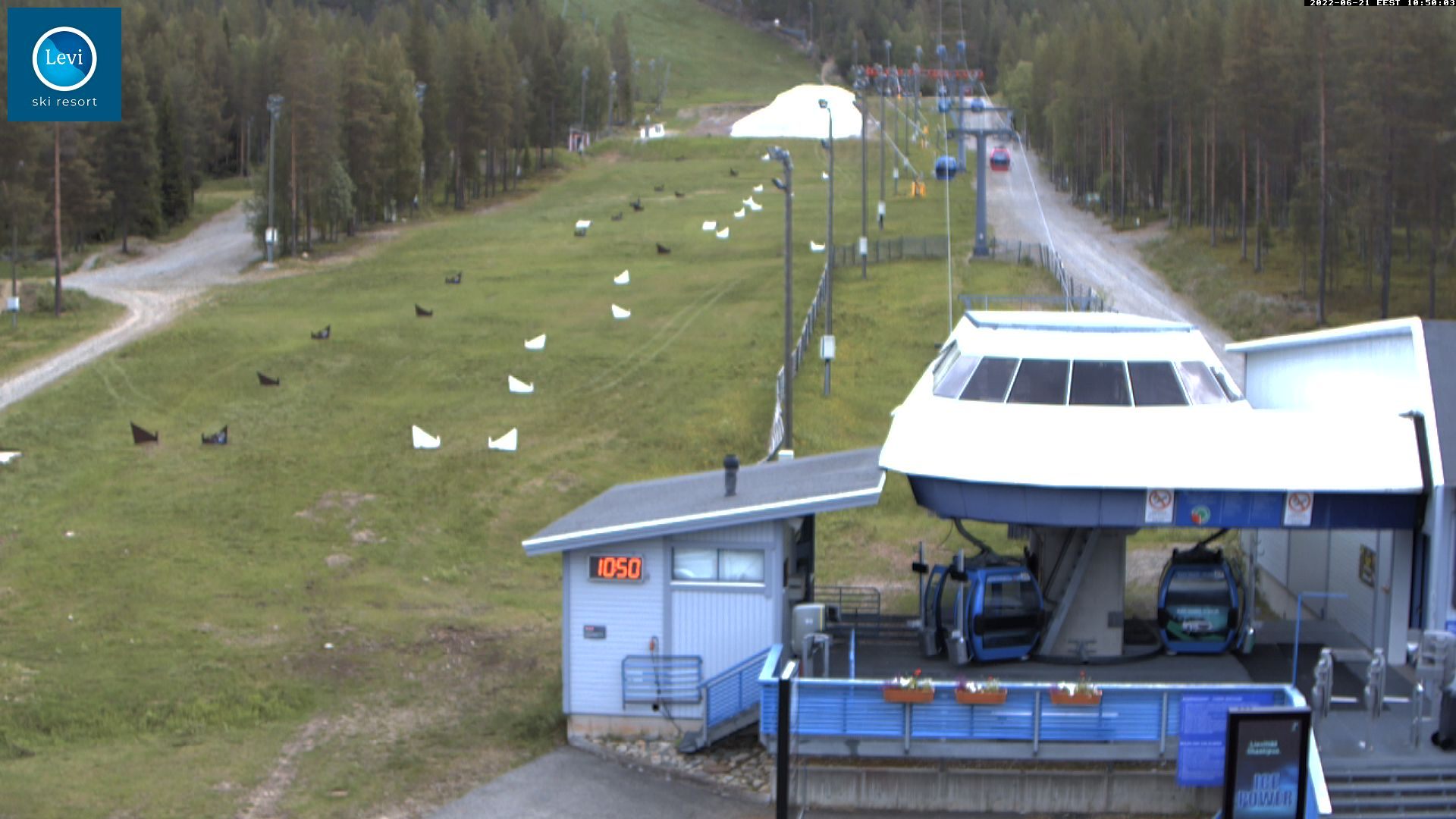 Levi Gondolli 2000 station webcam